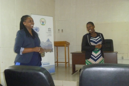 Laure from UNDP on left side and Ange from REMA